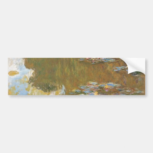 Water Lily Pond by Claude Monet Bumper Stickers