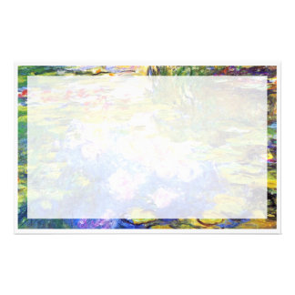 Water Lily Pond Claude MoneT FINE ART PAINTING Stationery