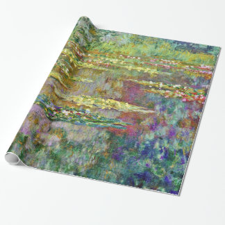 Water Lily Pond Claude Monet Fine Art Wrapping Paper