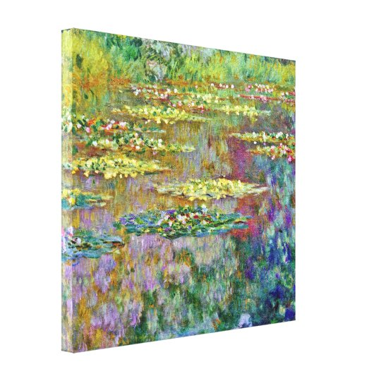 Water Lily Pond Fine Art Canvas Print