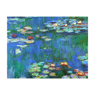 Water Lily Pond in Blue Monet Fine Art Canvas Prints