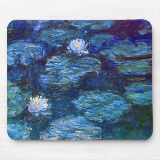 Water Lily Pond in Blue Mouse Pad