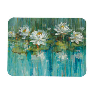 Water Lily Pond Rectangular Photo Magnet