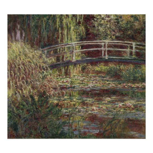 Water Lily Pond, Symphony in Rose - Claude Monet Poster
