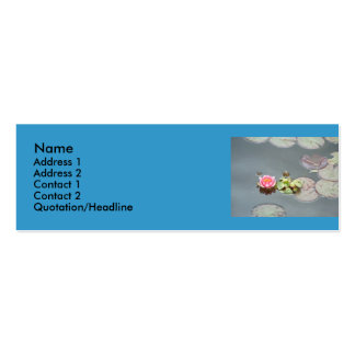 Water Lily Profile Card Pack Of Skinny Business Cards