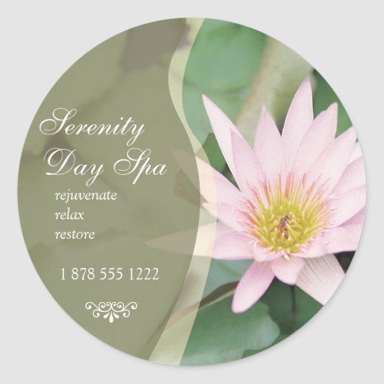 Water Lily Promotional Sticker