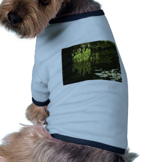 Water Lily Scene Drawing Pet Tshirt