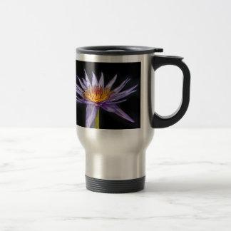 Water Lily Tropical Purple Travel Mug