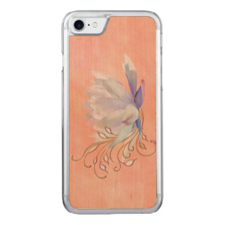 Water Lily with Decorative Swirls Carved iPhone 7 Case