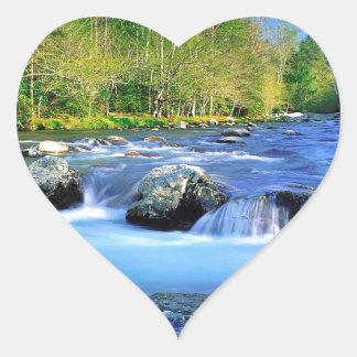 Water Little Pigeon River Heart Sticker