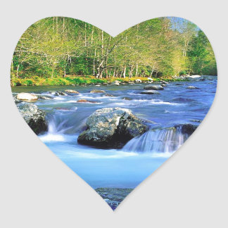 Water Little Pigeon River Heart Stickers