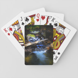 Water logged playing cards