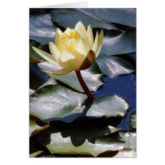 Water Lotus Flower Card