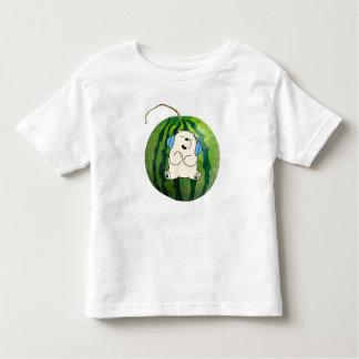 Water Melon Relax Bear Design Toddler T-Shirt