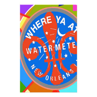 Water Meter Abstract New Orleans Custom Stationery