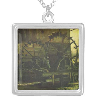 Water Mill at Gennep,Vincent van Gogh Silver Plated Necklace