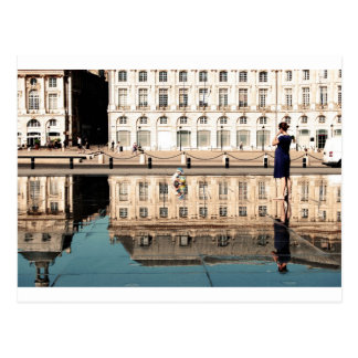 Water Mirror in Bordeaux Postcard