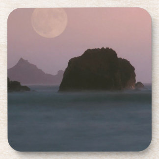 Water Moonset Rockaway Beach California Coasters