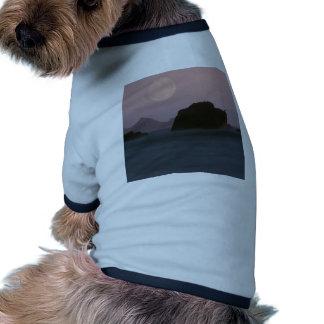 Water Moonset Rockaway Beach California Dog T Shirt