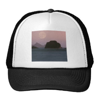 Water Moonset Rockaway Beach California Hat