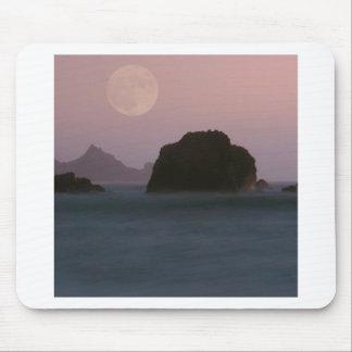 Water Moonset Rockaway Beach California Mouse Pad