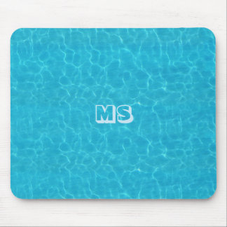"""""""Water"""" Mousepad with (or without) your Initials"""