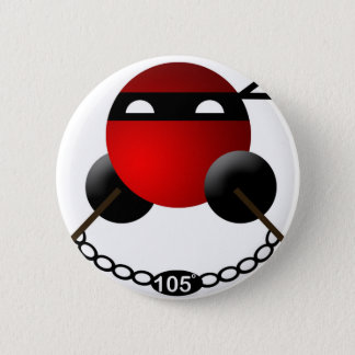 Water Ninja 6 Cm Round Badge
