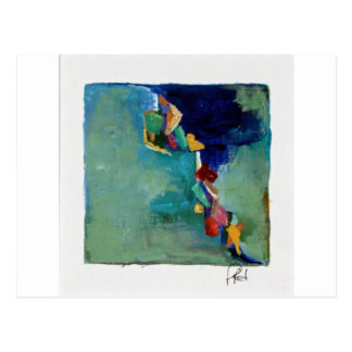 Water No. 76 abstract acrylic Postcard
