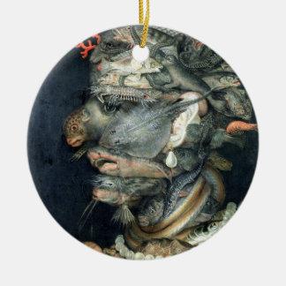 Water, (oil on canvas), Arcimboldo, Giuseppe Christmas Ornament