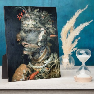 Water, (oil on canvas), Arcimboldo, Giuseppe Plaque