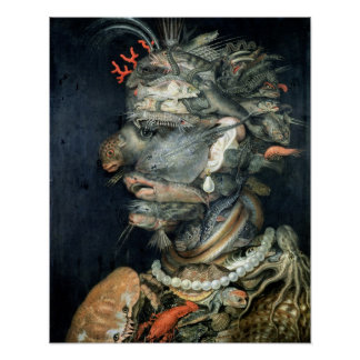 Water, (oil on canvas), Arcimboldo, Giuseppe Poster
