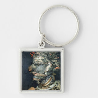 Water, (oil on canvas), Arcimboldo, Giuseppe Silver-Colored Square Key Ring