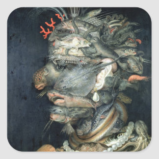Water, (oil on canvas), Arcimboldo, Giuseppe Square Sticker