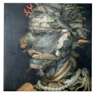 Water, (oil on canvas), Arcimboldo, Giuseppe Tile