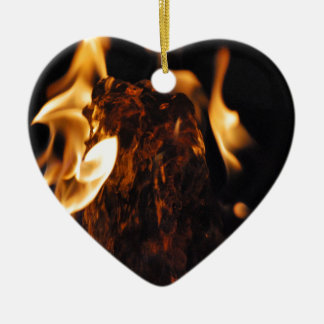 Water on Fire Ceramic Heart Decoration