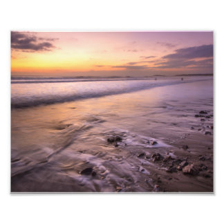 water on sand photo print