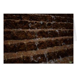 Water on Stone / Cascade, Greeting Card