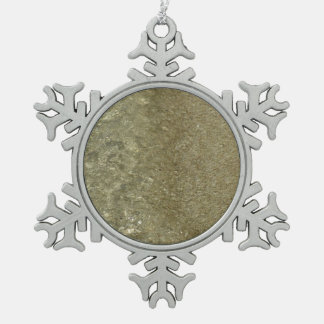 Water on the Beach II Abstract Nature Photography Pewter Snowflake Decoration