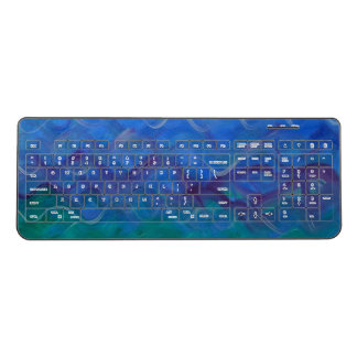Water Painting on Wireless Keyboard