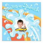 Water Park Pool Party Invitation 13 Cm X 13 Cm Square Invitation Card
