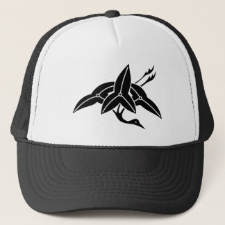 Water plantain crane trucker hat