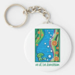 Water Pollution Basic Round Button Key Ring
