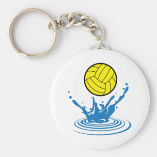 Water Polo Ball Basic Round Button Key Ring
