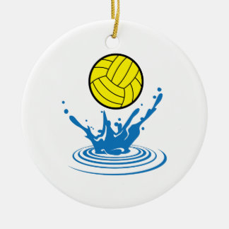 Water Polo Ball Round Ceramic Decoration