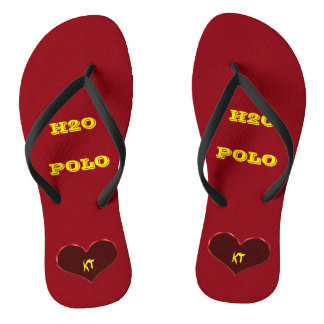 Water Polo Feet Edit Initials Flip Flops