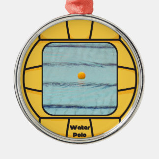 Water Polo frame (add your own photo!) Silver-Colored Round Decoration