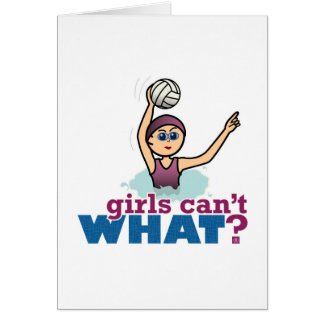 Water Polo Girl Card