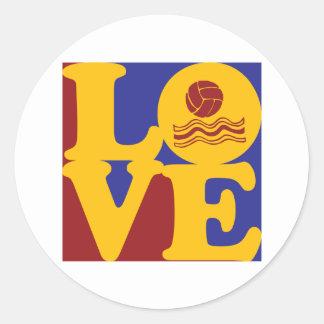 Water Polo Love Classic Round Sticker