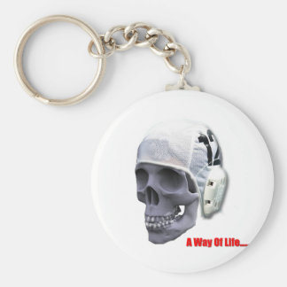 water-polo-skull key ring