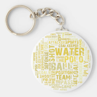 Water Polo Word Cloud Products Basic Round Button Key Ring